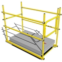SHG-2436 Roof Hatch Self Closing Gate 24 in. to 36 in. RoofTop Accessories, rooftop hatch safety rail, rooftop hatch guardrail, osha hatch guardrail, osha hatch safety rail