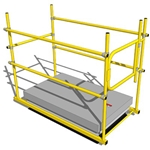 Roof Hatch Self Closing Gate 24 in. to 36 in. RoofTop Accessories, rooftop hatch safety rail, rooftop hatch guardrail, osha hatch guardrail, osha hatch safety rail