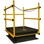 JL Industries SHWC-3036 Roof Hatch Safety Railing 30 in. x 36 in. RoofTop Accessories, rooftop hatch safety rail, rooftop hatch guardrail, osha hatch guardrail, osha hatch safety rail