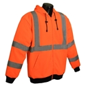 Radwear SJ01 Class 3 Long Sleeve Hooded Sweatshirt Hi-Viz Orange