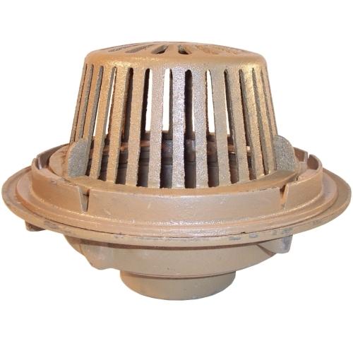 Smith quot diameter main roof drain w cast dome
