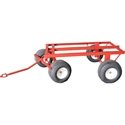 4 Wheel Cart with Pneumatic Tires