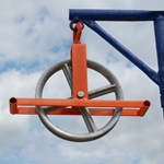 Roof Zone 12 in. Hoisting Wheel With Hook Use with a hand hoist beam, hoisting wheel