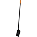 Roof Zone Long Handled Steel Spade - Heeled Back - Plain Edge