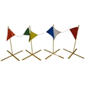 X-Warning Line, Set of 4 w/flags warning line system, perimeter, warning, line, roofing, osha, folding, collapsible