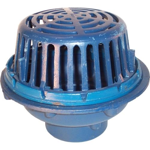 Zurn z quot diameter main roof drain cast iron dome