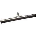 "18"" Curved Black Rubber Squeegee"