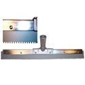 18 in. x 1/4 in. Gray EPDM Notched Squeegee