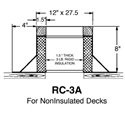 "Double RC-3A Canted Curb - 8"" High"