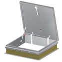 JL Industries Aluminum RHDA-5 Roof Hatch - 48 in. x 48 in.