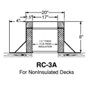 "Large RC-3A Canted Curb- 8"" High"
