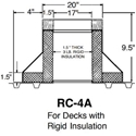 "Large RC-4A Raised Canted Curb- 9 1/2"" High"
