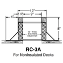 "Small RC-3A Canted Curb- 8"" High"