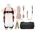 Fall Protection Kit, Complete w/25' Rope Lifeline