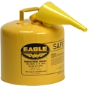 Eagle UI-50-FSY Type I Safety Can 5 Gal with F-15 Funnel