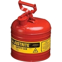 Justrite 7120100, Type I Red Gas Can - 2 Gal.