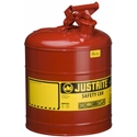 Justrite 7150100, Type I Red Gas Can - 5 Gal.