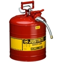 Justrite 7250120 Type II Accuflow Red Gas Can, 5 Gal. w/ 5/8 in. Hose