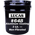 Lucas 648 Aluminum Roof Coating - 3lb . Non Fibrated, 5 gal