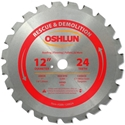 12 inch x 24 teeth x 1 inch arbor Carbide Tipped Rescue & Demolition Saw Blade