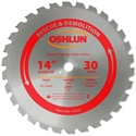 14 inch x 30 teeth x 1 inch arbor Carbide Tipped Rescue & Demolition Saw Blade