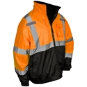 Radwear SJ210B Three-In-One Deluxe Hi-Viz Orange Safety Bomber Jacket - Size L - CLEARANCE PRICING!