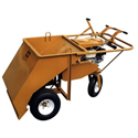 "All Season Equipment- 36"" Wheels-Under Gravel Spreader"
