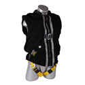 Guardian 02610 Size M Construction Tux Black Mesh w/ PT Legs, Back D-ring, Side D-rings