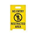 A-Frame Floor Sign- No Entry Restricted Area