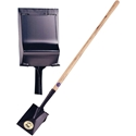 Long Handle Wood Spade, Plain Edge, Heeled Back