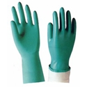 Green Nitrile Flock Lined