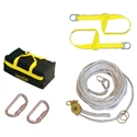 Guardian 04625 30 Ft. Black Polyester Horizontal Lifeline Kit