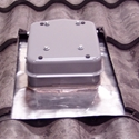 CommTile Satellite Dish Mounting System (Primer Gray) w/Flashing