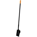 Roof Zone Long Handled Steel Spade - Heeled Back - Serrated Edge